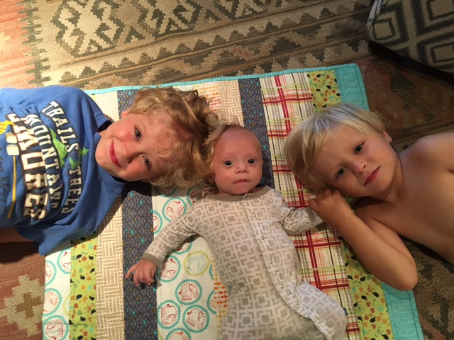 Finn '29 and Elliott '30 Kettlety welcomed their new brother this summer. Meet Sonny!